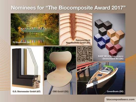 Presentan a los nominados para el premio a Biocomposites 2017