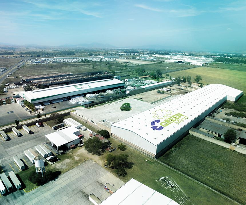 Vista aérea de la planta de Green Mind Packaging y Green Mind Recycling