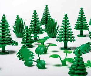 Árboles y hojas de los juegos de Lego serán fabricados con bioplásticos.