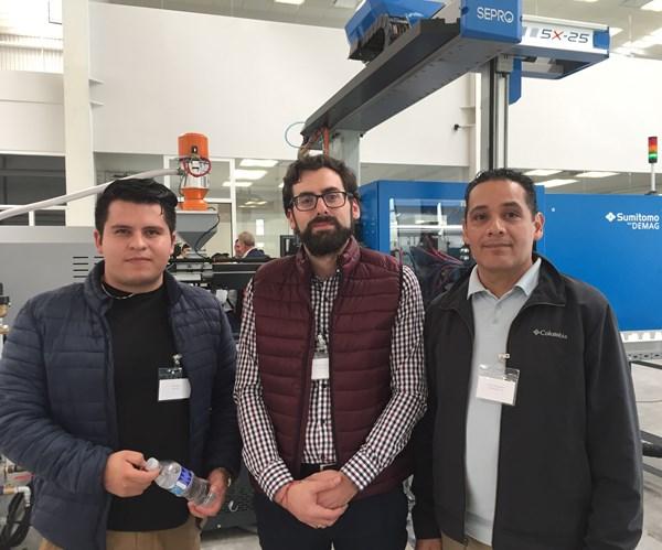 Brian Villegas, Carlos Uriarte y Gonzalo Alamilla