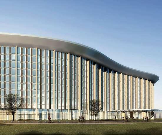 Nuevo recinto ferial de Chinaplas eb Shanghái.