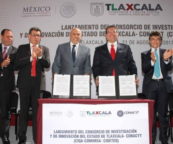 Lanzamiento del Consorcio de Investigación y de Innovación del Estado de Tlaxcala