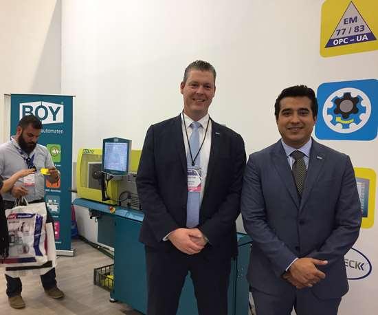 Christian Storz, project manager de Dr. Boy, y Gerardo Moreno, gerente de Inyecteck