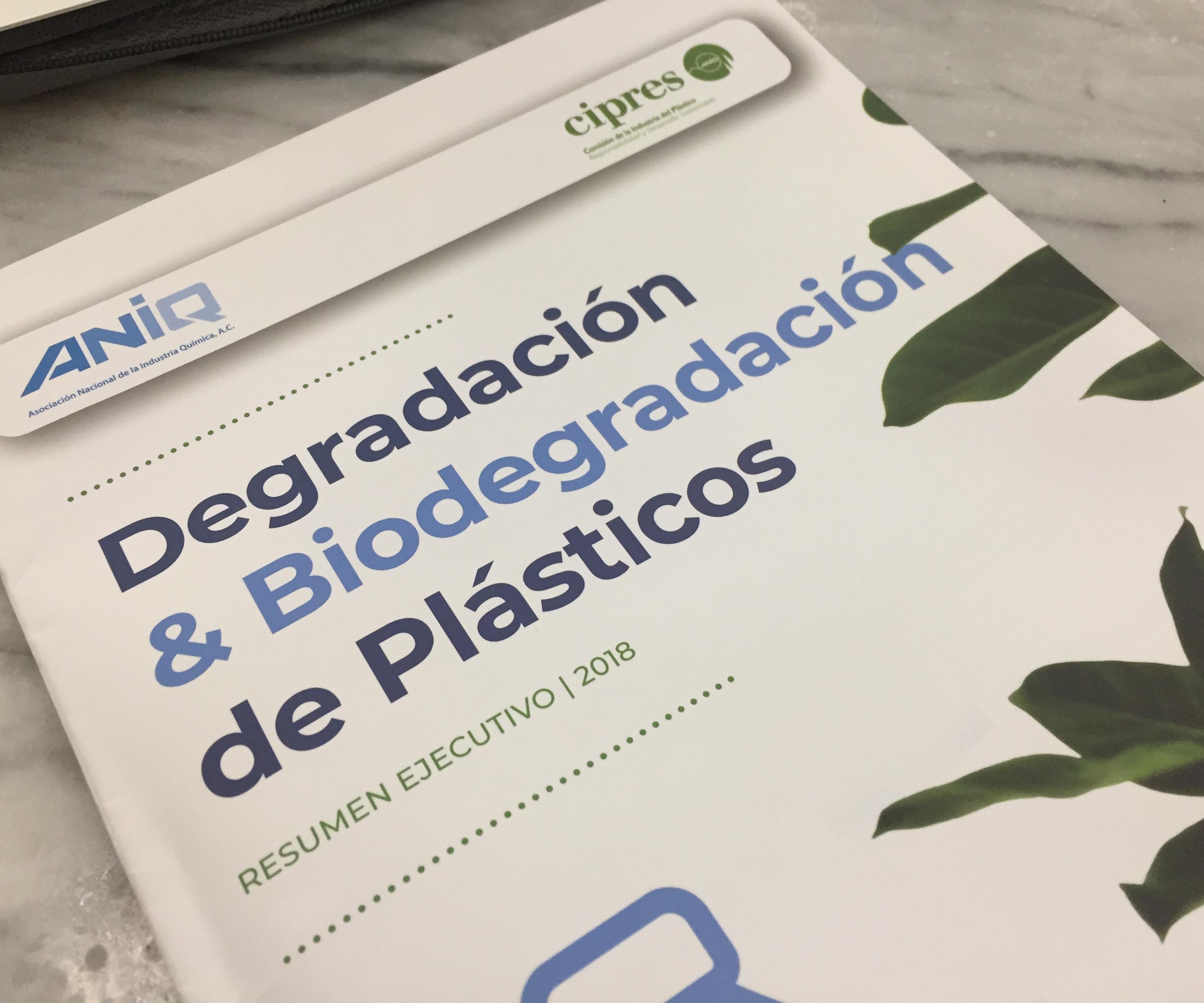 ANIQ y CIPRES presentaron estudio sobre Degradación y Biodegradación de Plásticos