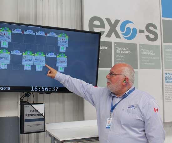 Para la certificación BIQS de GM, el equipo de San Juan del Río tuvo que demostrar su capacidad de respuesta rápida, para lo cual el uso de sistemas de monitoreo es clave.