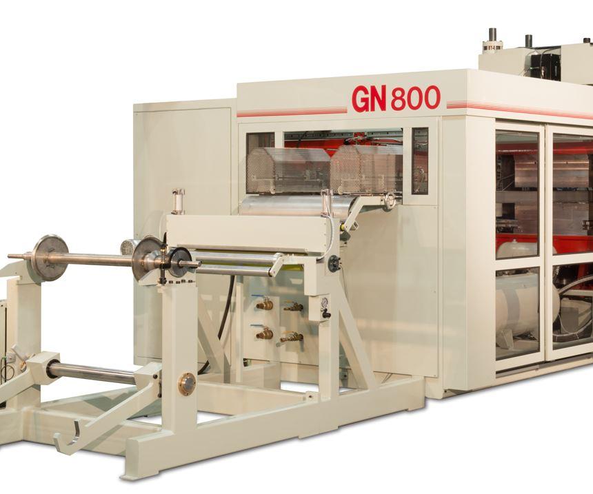 Línea de termoformado de alta velocidad GN800.