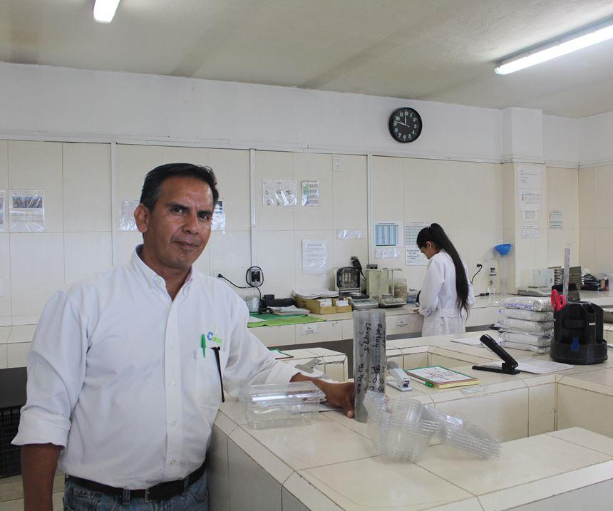 Raúl Larios, jefe del departamento de calidad.
