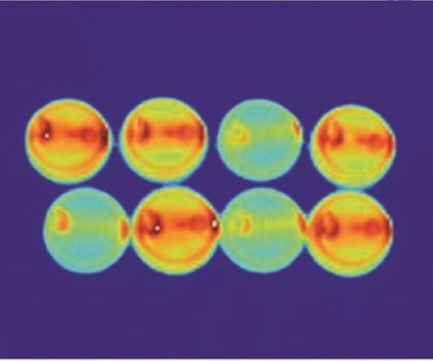 imagen térmica molde ocho cavidades