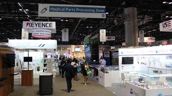 Zona de procesamiento de piezas de uso médico