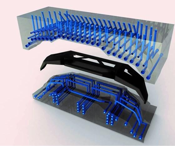 impresión 3D de moldes de metal concanales de enfriamiento integrados