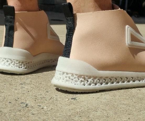 prototipo de Footprint 3D tejido entrelazadoen la entresuela