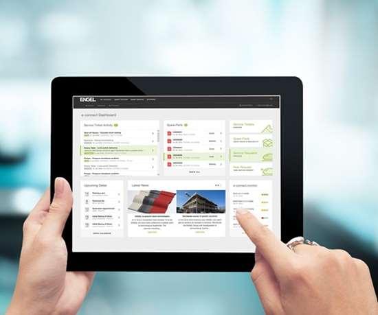 Una nueva versióndel portal de Engel para clientes,e-connect, fue recientemente lanzada en Norteamérica. Este portal soporta el servicio inteligente de los productos del programainject 4.0.