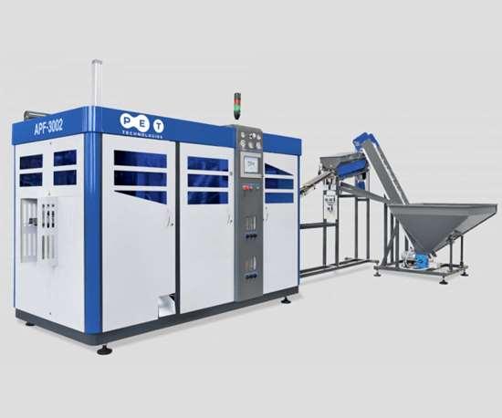 Máquinas de PET Technologies para moldeo por soplado.