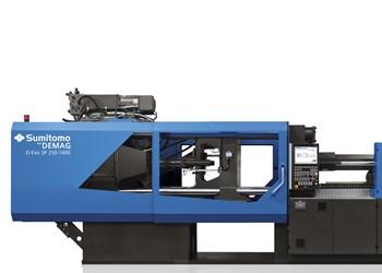 Máquinas inyectoras de Sumitomo Demag, en el stand de Avance Industrial