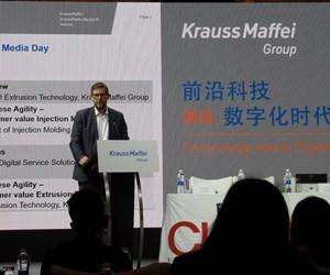 Presentación de Adsale, organizadores de Chinaplas 2019, en el día de medios