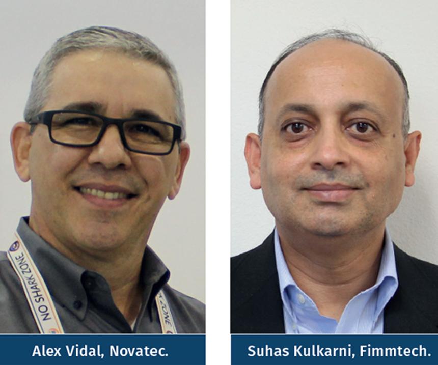 Alex Vidal, de Novatec; y Suhas Kulkarni, de Fimmtech.