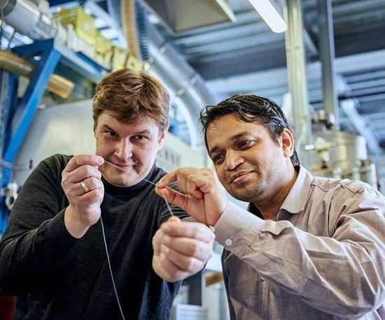 Las fibras elásticas están hechas con un componente químico que en parte está formado de CO2 en lugar de petróleo.