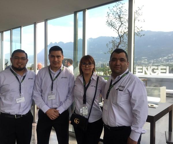Julio Hernández, Jesús Ávila, Ivonne Rodríguez y Enrique Rangel, de Preh de