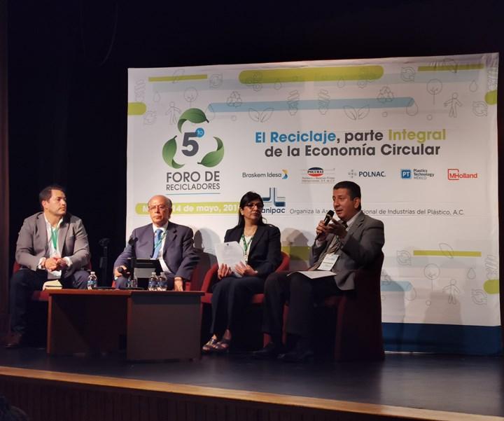 México Recicla, Bio Reciclados Folgueiras y Omnigreen, en panel.