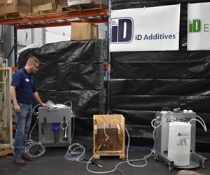 La exhibición en vivo deiD Additivesmostró mejoras significativas en el flujo después del lavado con iD Eco-Pro 360.