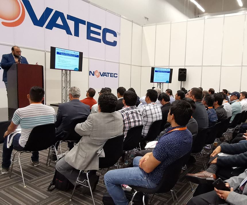 Las salas de conferencias dedicadas a la manufactura aditiva, la manufactura de moldes y el moldeo por inyecciónregistraron llenototal los dos días.