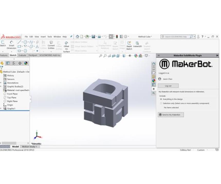 Con MakerBot Cloud los usuariospueden preparar, gestionar e imprimir sus proyectos directamente en las impresoras 3D MakerBot.