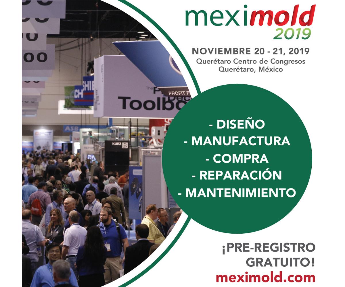 Meximold se realizará del 20 al 21 de noviembre en el Querétaro Centro de Congresos.