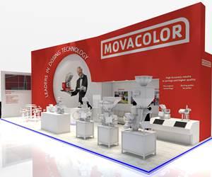 Así lucirá el stand de la compañía holandesa Movacolor (pabellón 11, D58) en la feria K 2019.