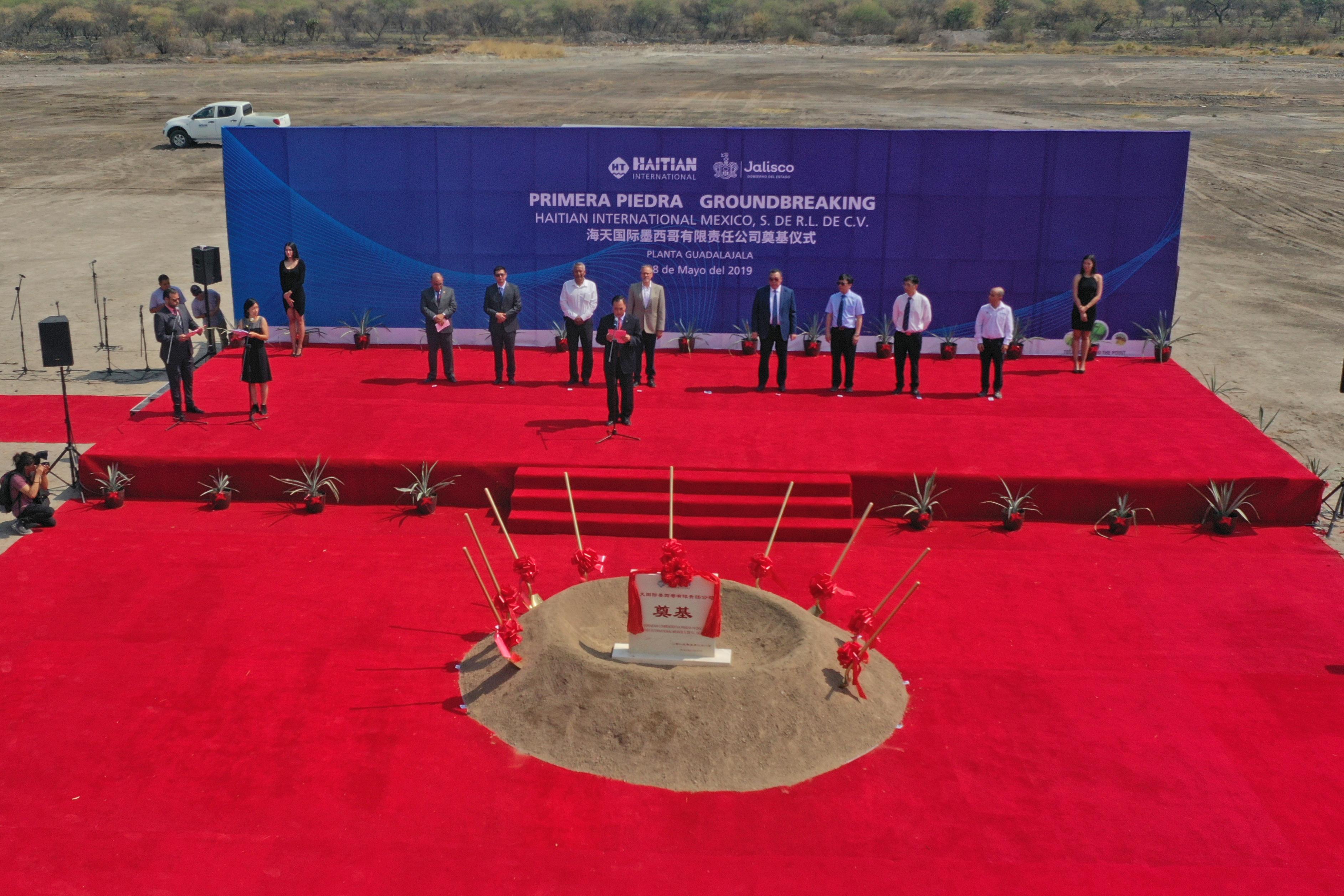 Ceremonia de la Colocación de la Primera Piedra, de la nueva planta de Haitian en Jalisco.
