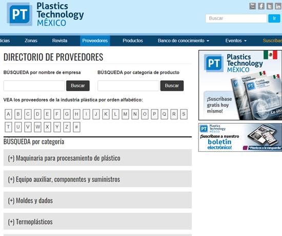 Guía de Proveedores, de Plastics Technology México.