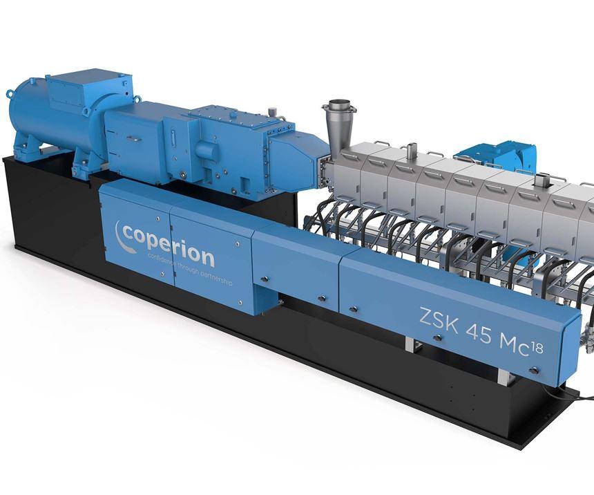 Coperion mostrará dos extrusoras ZSK Mc18 significativamente rediseñadas con un diámetro de husillo de 45 y 70 mm.