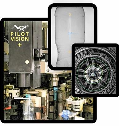 El nuevo Pilot Vision + de Agr proporciona una detección mejorada de defectos en botellas de PET con la ayuda de hasta seis cámaras, incluida la detección de color, que puede ser especialmente útil en el procesamiento de PET con altos niveles de reciclado.