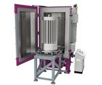 El sistema de pirólisis de alto vacío térmico VACUCLEAN 0917 limpia filtros de vela con una altura de hasta 170 cm. El contenedor de fusión tiene capacidad para 150 litros de plástico en una sola aplicación.
