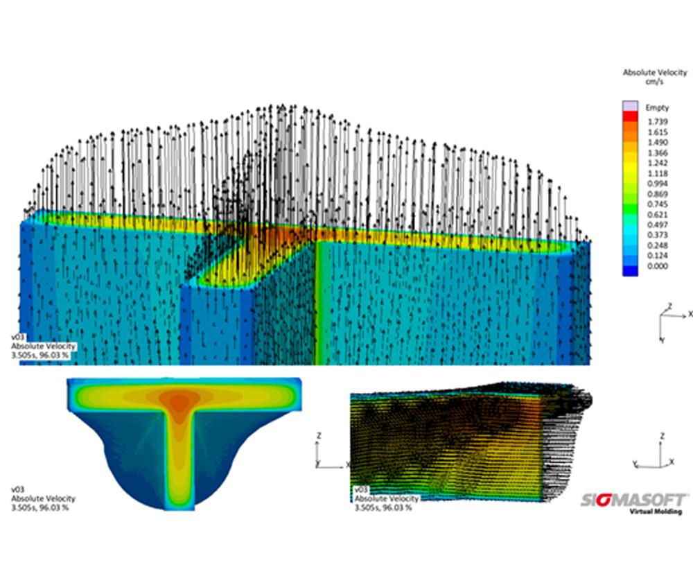 La distribución de temperatura dentro del dado de extrusión, así como la geometría del canal de flujo, son factores determinantes para el desempeño de un dado de extrusión y la estabilidad dimensional del material extruido.SIGMA Engineering está dando los primeros pasos en la simulación de extrusión.