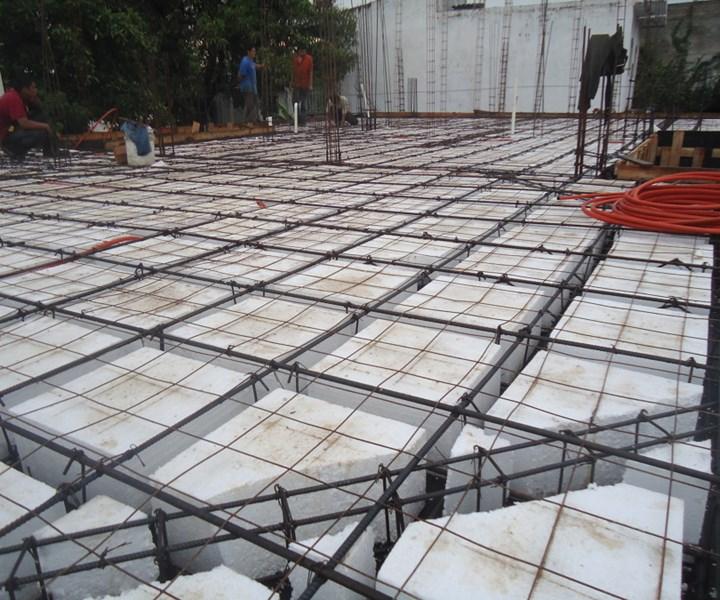 Aplicaciones del EPS o Unicel en la industria de la construcción.