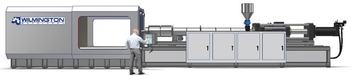 Wilmington Machinery rediseñósu máquina de inyección de presión media MP800 de dos etapas a una sola etapa con husillo y émbolo en línea en un solo barril.