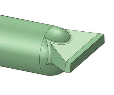 FIG 4. Diseño mejorado de compuerta de borde ancho.