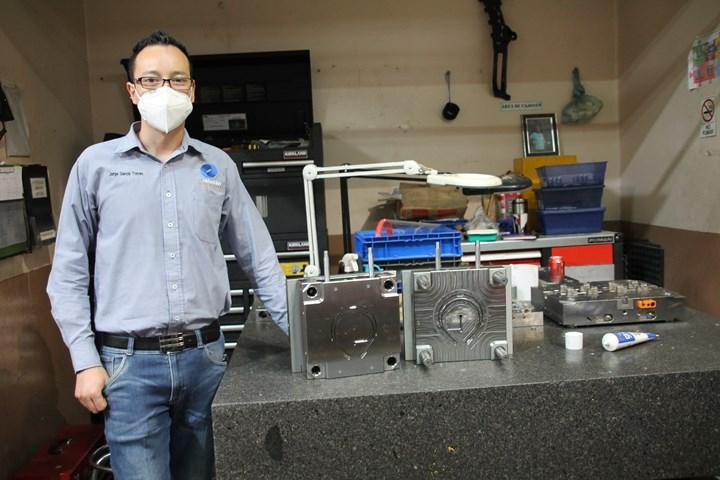 Maquinados Industriales Ayala y Hasco unieron esfuerzos parafabricar un molde que permitiera la fabricación de caretas de protección facial para donar a personal médico en Querétaro ySan Luis Potosí.