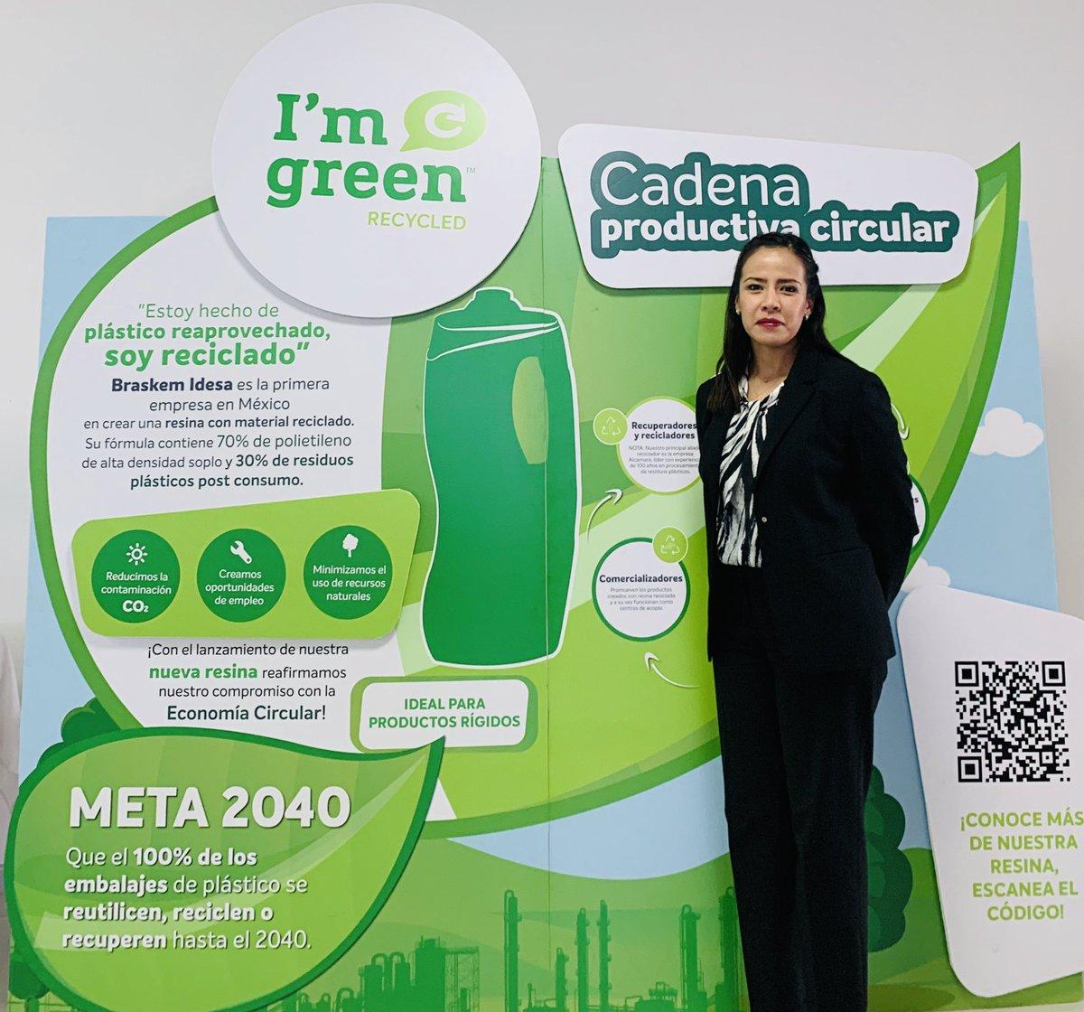 """En 2019 Braskem Idesa lanzó al mercado la primera resina mexicana de polietileno de alta densidad (PEAD) con contenido de Plásticos Reciclados Pos-Consumo """"I'm green Recycled""""."""