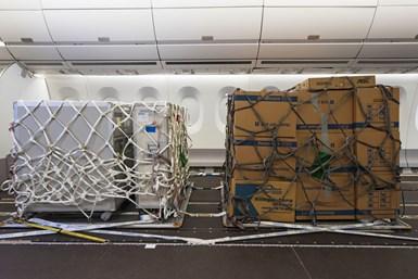 Airbus desarrolló una solución para que las aerolíneas utilicen sus aviones de fuselaje ancho para operaciones de carga durante la pandemia COVID-19. Foto: Airbus.