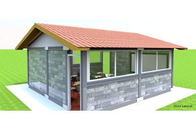 Así se verá el aula queCarvajal Empaquesy Bloqueplás construitán enXicotepec con plástico reciclado.