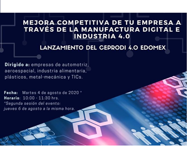 "Programa""Mejora competitiva en la empresa a través de la manufactura digital e industria 4.0"", de CEPRODI."