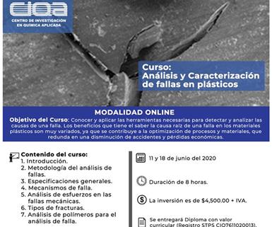 """Curso """"Análisis y caracterización de fallas en plásticos"""", impartido por el CIQA."""