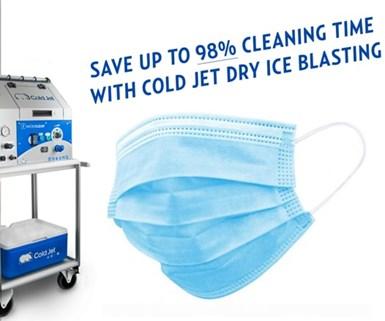 Cold Jet aplica su sistema de limpieza criogénica a la producción de mascarillas faciales.