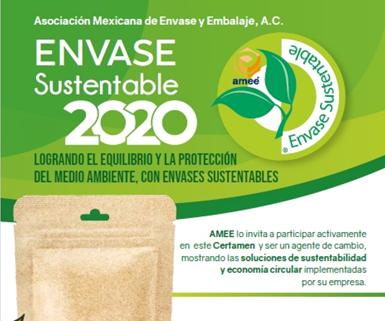 AMEE anuncia nuevas fechas para inscripciones a sus premios Envase Sustentable 2020 .