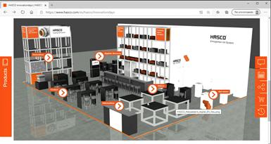 Hasco presentó en su Open House el stand virtual que la empresa preparó con motivo de la feria Fakuma