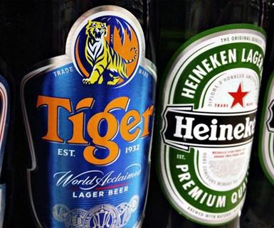 Heineken y Tiger.