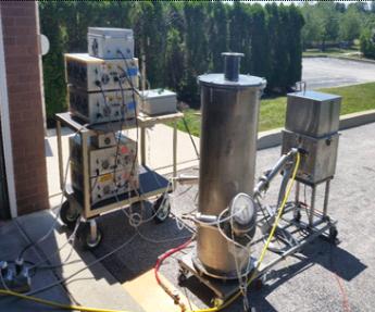 Figura 3. Cámara de gasificación por plasma utilizada en CIQA para gasificar polietilenos a nivel piloto.