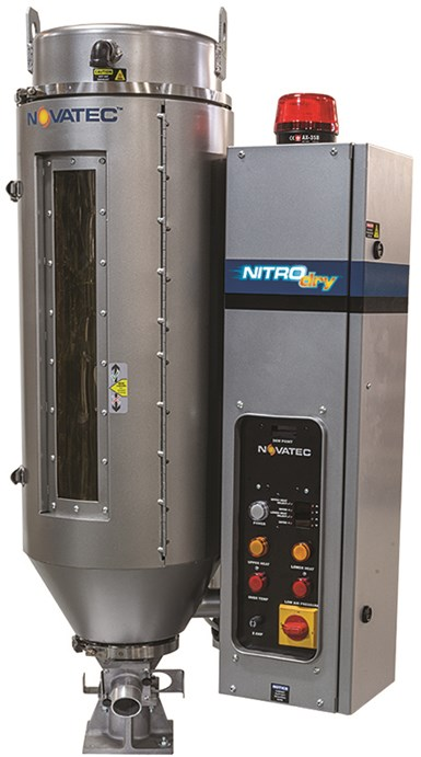Secador de resina patentado NITROdry, de Novatec.