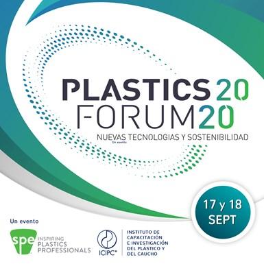 Plastics Forum 2020 se realizará del 17 al 18 de septiembre de 2020 de forma virtual.